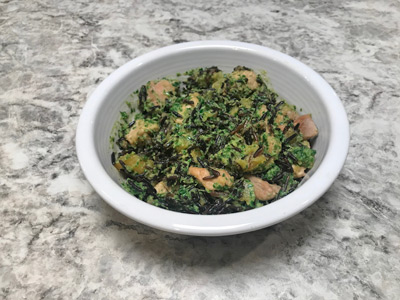 collard-greens-pesto-with-wild-rice-chicken-and-squash