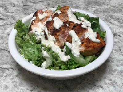 fresh-greens-salad-with-homemade-ranch-and-paprika-chicken