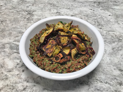 kale-pesto-rice-with-roasted-festival-squash-and-scallions