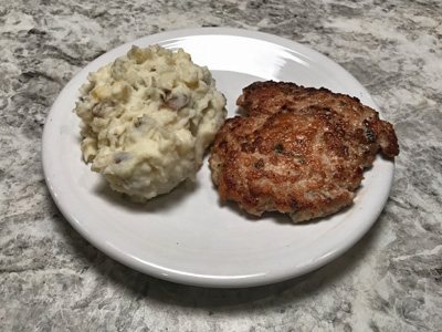 turnip-mashed-potatoes-with-chicken-patty